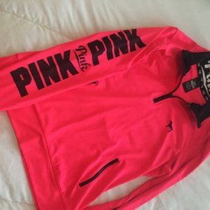 PINK Victoria's Secret Tops - PINK Victoria's Secret Half Zip